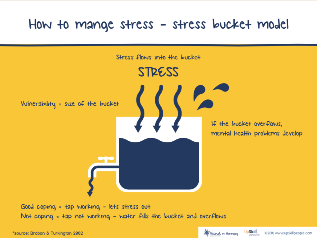 How to manage stress - stress bucket model